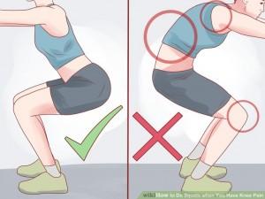 Как вставать при болях в коленях